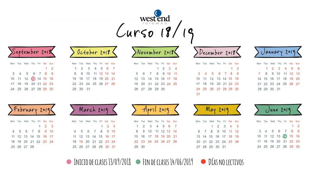 Calendario Curso 2018-2019